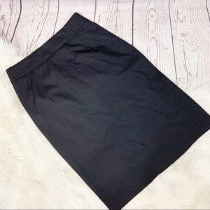 Theory Black Pencil Skirt Sz 2